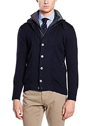 Hackett London Chaqueta Punto Lana Nylon Lining Cardigan