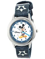 Disney Kids W000015 Mickey Mouse Stainless Steel Time Teacher Watch