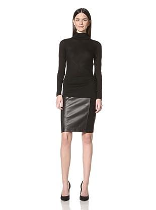Derek Lam Women's Zip Detail Turtleneck (Black)