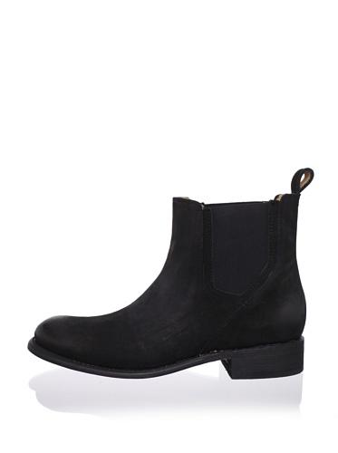 JD Fisk Men's Serge Pull-On Boot (Black)