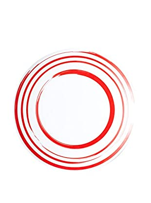 Q SQUARED NYC Madison Bloom Serving Platter with Red Circles