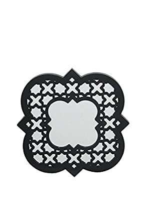 Three Hands Moroccan-Inspired Wall Mirror, Black