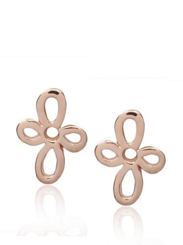 Catherine Angiel Rose Gold Petal Stud Earrings