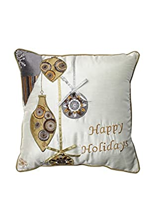 Pillow Perfect Holiday Ornaments Throw Pillow, Gold/Silver