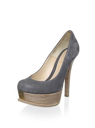 Fendi Women's Logoed-Toe Platform Pump (Grifio)
