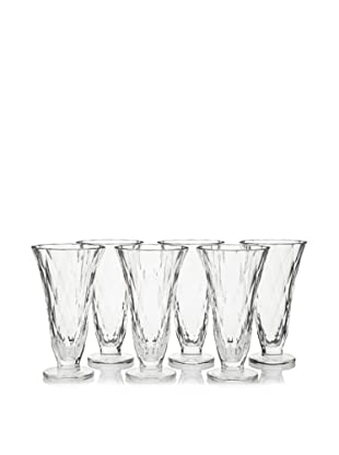 La Rochère Set of 6 Baikal Tall Ice Cream Coupes, Clear, 13-Oz.