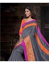 Bhagalpuri Silk Saree with Blouse