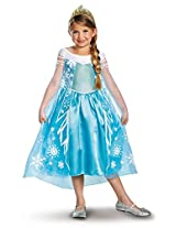 Disguise Disney Frozen Elsa Deluxe Costume, 10-12