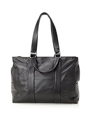 Calvin Klein Collection Men's Leather Tote (Black)