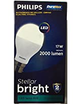 PHILIPS LED 17W DELIVERS 2000 LUMEN STELLAR BRIGHT LED LAMP B22 CRYSTAL WHITE / COOL DAY LIGHT / 6500K. [DURA MAX TECHNOLOGY LONG LASTING BRIGHTNESS] [WARRANTY 2 YEARS] [PACK OF ONE]
