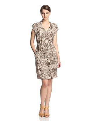 Gerard Darel Women's Printed Silk Dress (Camel)