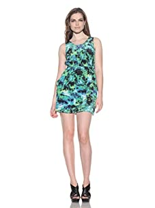 under.ligne by Doo.Ri Women's Fly Away Tank Dress (Lime Wash)