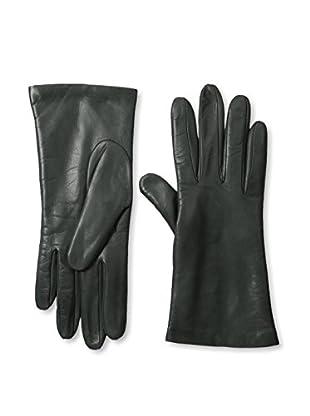 Portolano Women's Cashmere Lined Leather Gloves (Iron Gray)