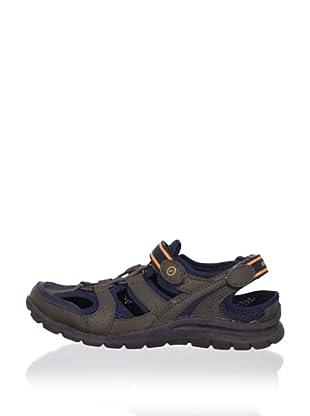 Stride Rite Kid's Brady Washable Sandal (Toddler/Little Kid) (Cinder/Bearcub/Navy)
