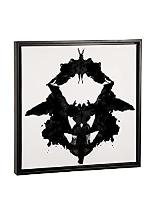 Modern Art Dancing Butterfly Inkblots Canvas Print