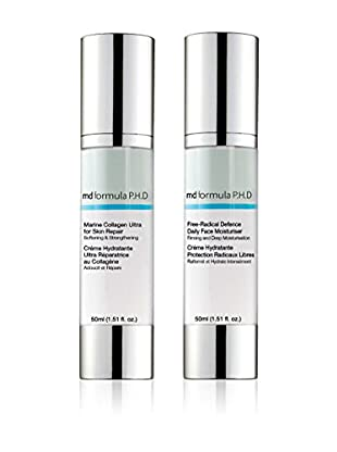 MD FORMULA  Beauty-Set 2 tlg. Free-Radical Defence Daily Face Moisturizer, Marine Collagen Repair Face Ultra