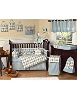Blue and Cocoa Argyle Changing Pad Cover