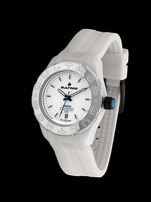 Bultaco H1PW36S-CW1 - Reloj Policarbonato correa silicona blanco