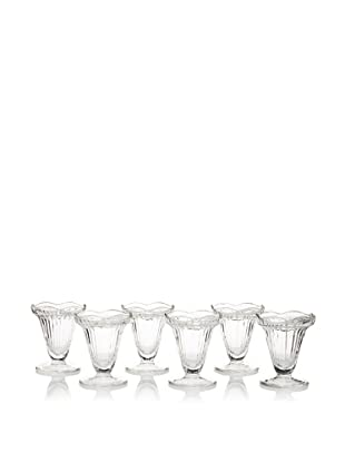 La Rochère Set of 6 Cadette Décor Tulip Ice Cream Coupes
