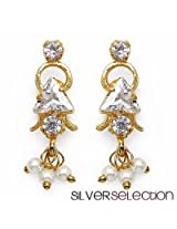 Silver Selection American Diamond Brass Earrings