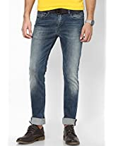 Grove Destructed Stretch Slim Fit Jeans