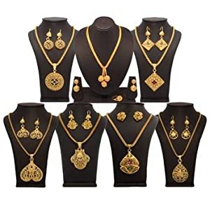 Necklace sets - Vendee Fashion Gold Jewellery Combo (1404)