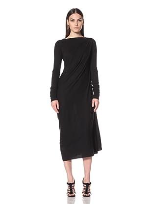 Rick Owens Liles Women's Extended Sleeve Drape Dress (Black)