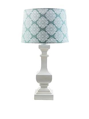 Surya Carolina Outdoor Table Lamp, Aqua/White