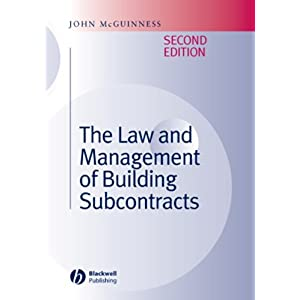 【クリックで詳細表示】The Law and Management of Building Subcontracts