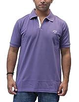 Romano Men's Cotton Polo Purple