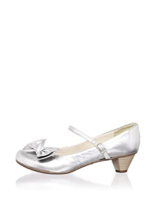 Ortopasso Kid's Mary Jane with Heel (Silver)
