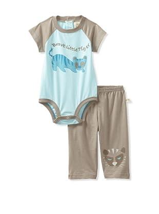 Da Lil Guys Baby Short Sleeve Bodysuit & Pant Set (Blue)