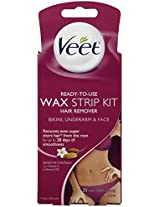 Veet Wax Strips Hair Remover 20 Ct