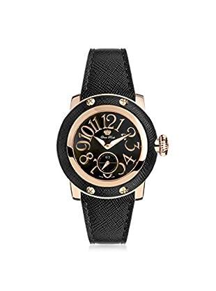 Glam Rock Women's GR40046 Miami Black Genuine Leather Watch