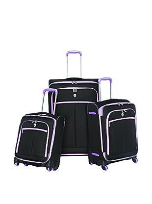 Olympia O-Tron 3-Piece Luggage Set, Purple