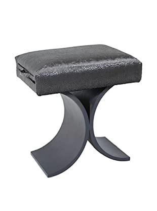 COUEF Giana Classic Convertible Ottoman-Table-Stool, Greige/Mercury