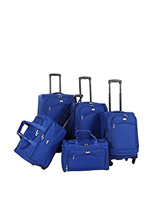 American Flyer 5-Piece South West Collection Luggage Set, Cobalt
