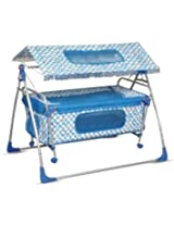 Blue White Colored Combo Baby Cradle Cum Cot by Bajaj Baby Product