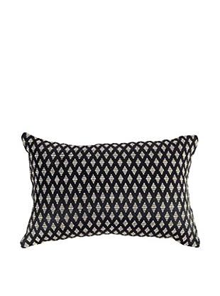 Bandhini Homewear Design Prism Lumbar Pillow, Black/Beige