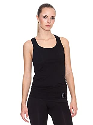 Elle Sports Camiseta Tirantes Cosmetic (Negro)