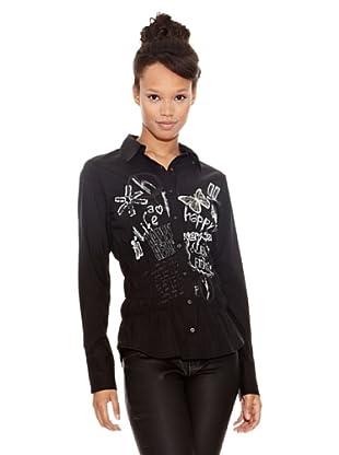 Desigual Camisa Dupontel (Negro Estampado)