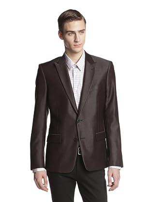 Versace Collection Men's Peak Lapel Trend Fit Sportcoat (Bordeaux)