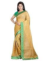 Vibes Women's Bhagalpuri Art Silk Saree,With Blouse (S54-VBK168_Golden)