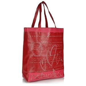 Desigual Red Shopping Bag