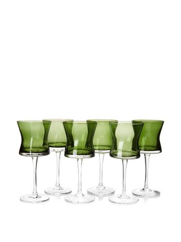 Artland Set of 6 Soho Goblets, Sage