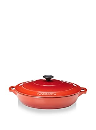 Chasseur 3.5 Qt. Double-Enameled Cast Iron Brazier with Lid (Chili Red)