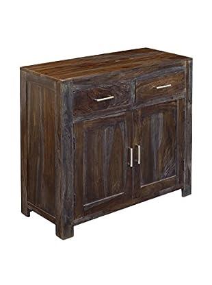 Coast to Coast 2-Drawer 2-Door Cabinet, Grey/Brown