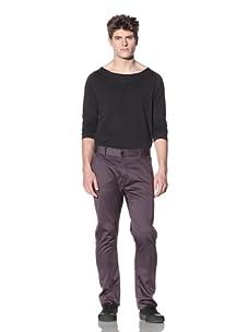 ZAK Men's Straight Fit Stretch Pant (Grey)