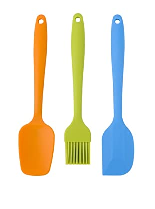 MIU France 3-Piece Silicone Utensil Set, Assorted
