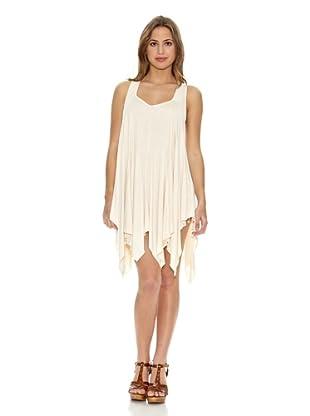RARE Vestido Jersey Drape Panel (Nude)